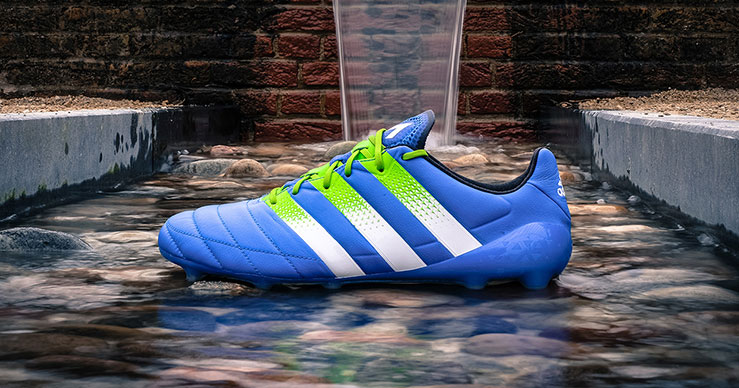 Image of an adidas Ace 16.1 Football Boot in Shock Blue Leather.