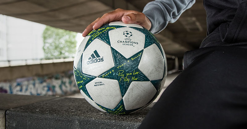 Image of the new UEFA Champions League group stage football from adidas