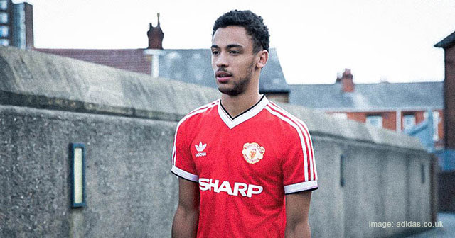 Image of adidas Originals Retro Manchester United Shirt Model