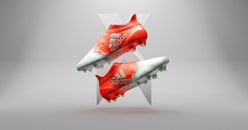 """Image of the new adidas football """"speed of white"""" ace 16+ PureControl and X16+ PureChaos for the Rio Olympics"""