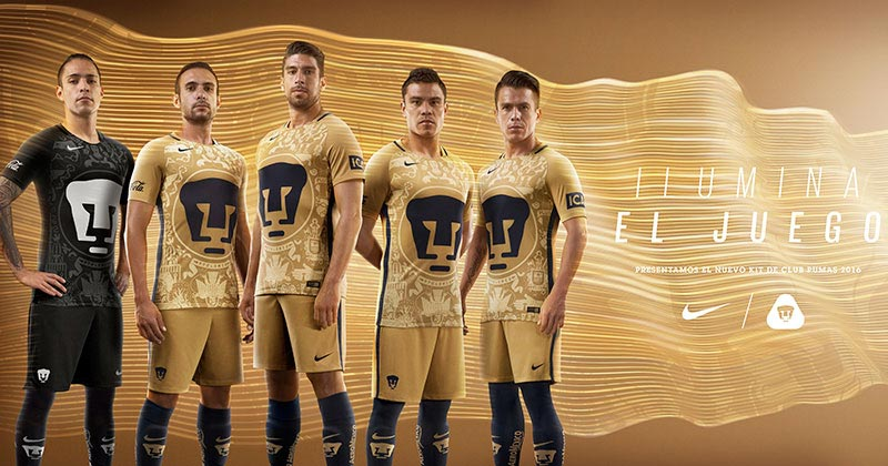 Image of the new Nike Football and Pumas UNAM home shirt