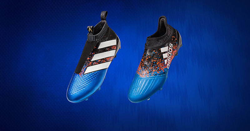 Image of the new adidas football paris pack featuring the X16+ PureChaos and Ace16+ PureControl