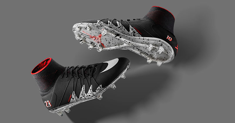 Image of the Neymar Jr and Air Jordan Nike Hypervenom Phantom football boot