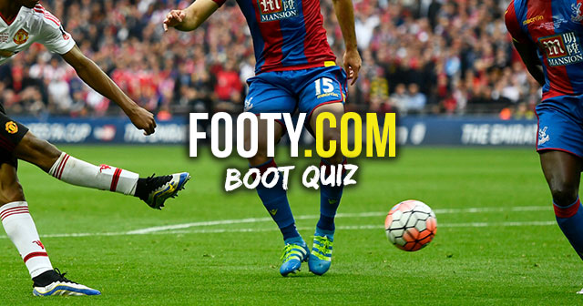 Image of the FOOTY.COM boot spotting quiz for May 2016
