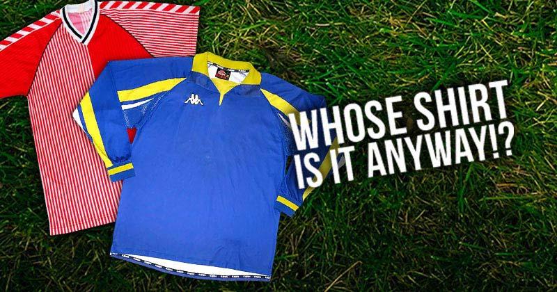 Image of football shirts