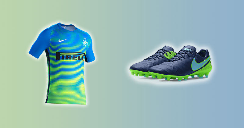 Image of Inter Milan Shirt and Nike Tiempo
