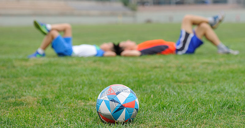 Image of kids playing football