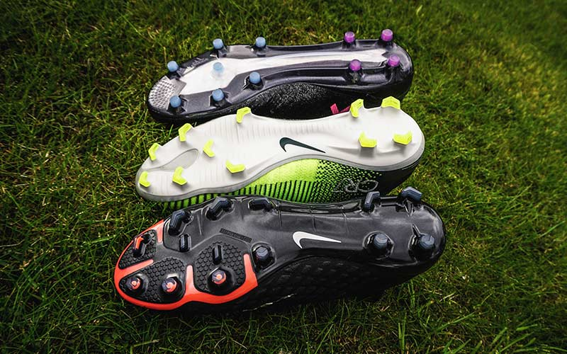 Firm ground football boot soleplate