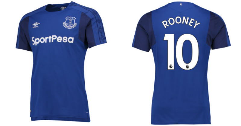Everton FC football shirt