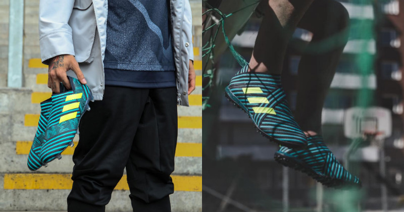 Holding and Wearing the Nemeziz 17 Boots