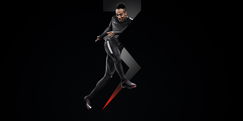 12200396efbe Finish it! Aubameyang knows where the goal is. Image  Nike Football.