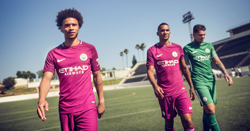 Image of Manchester City 17/18 Away Kit