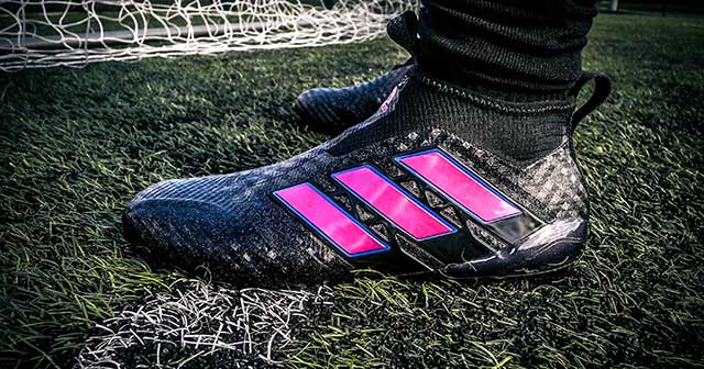 The new Black and Pink colourway of the adidas ACE 17+ PureControl