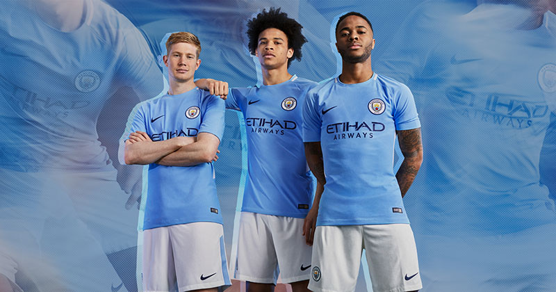 Image of Manchester City 17/18 home kit