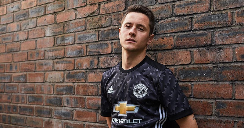 Image of the new Manchester United 2017-18 away shirt