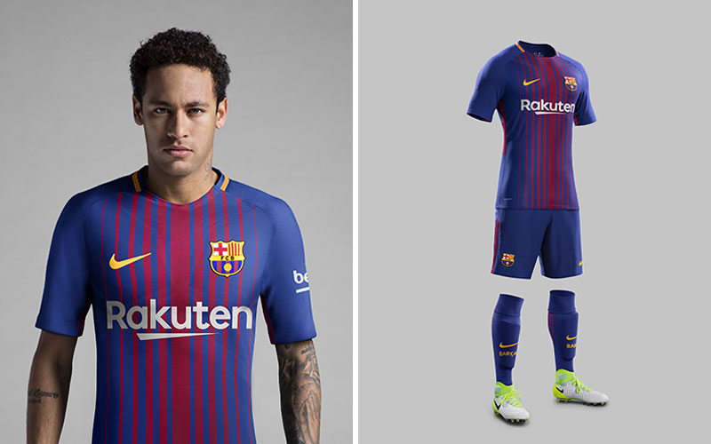 Nike Unveil FC Barcelona 2017 18 Home Kit  2c6b02ce5