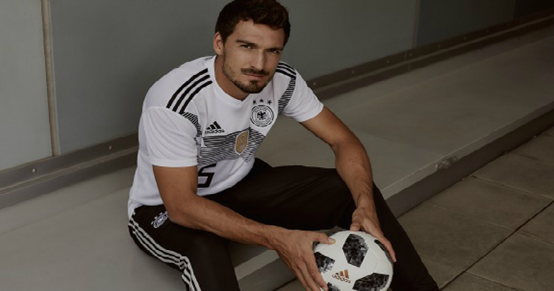 Matts Hummels Holding the new Adidas World Cup 2018 Football