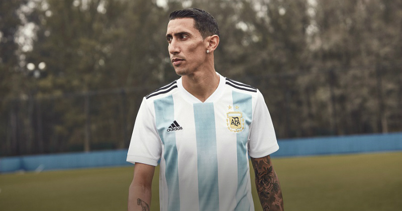 Di Maria in the Argentinian Kit