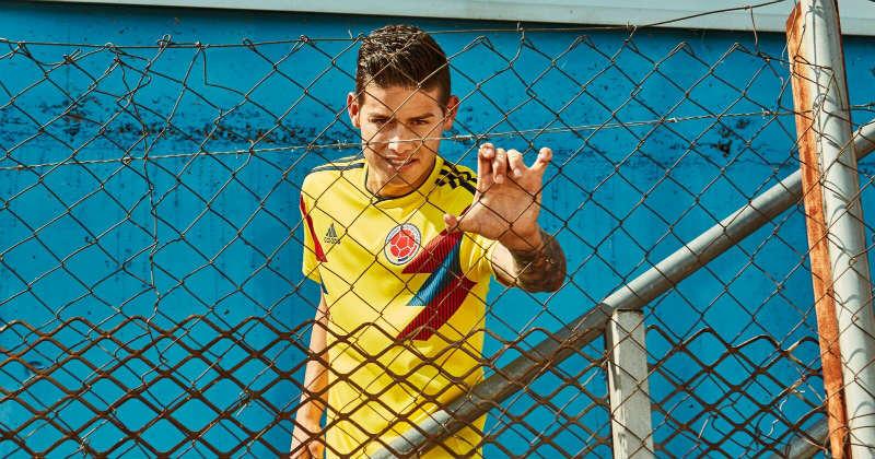 Rodriguez wearing the new Columbian Kit