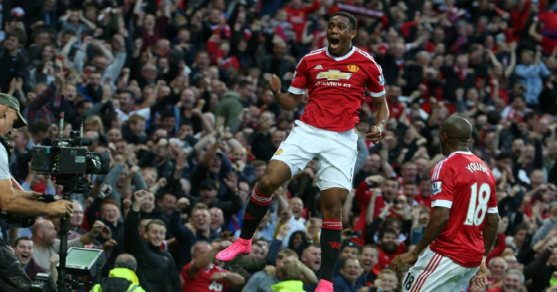 Antony Martial for Manchester United