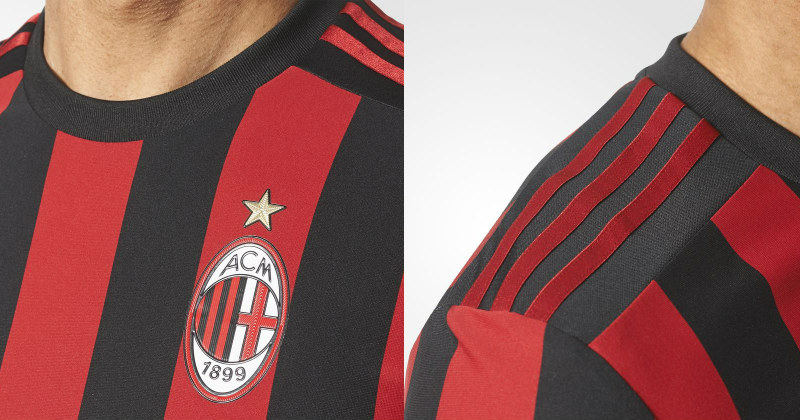 AC Milan Kit Zoomed in on Crest