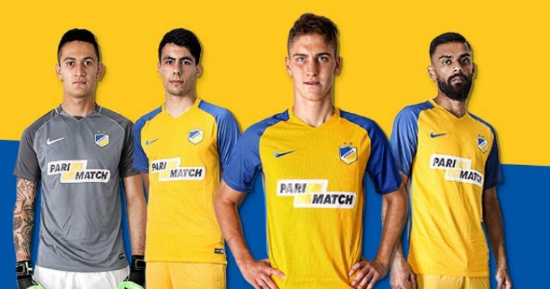 Apoel Nicosia Players in Kit
