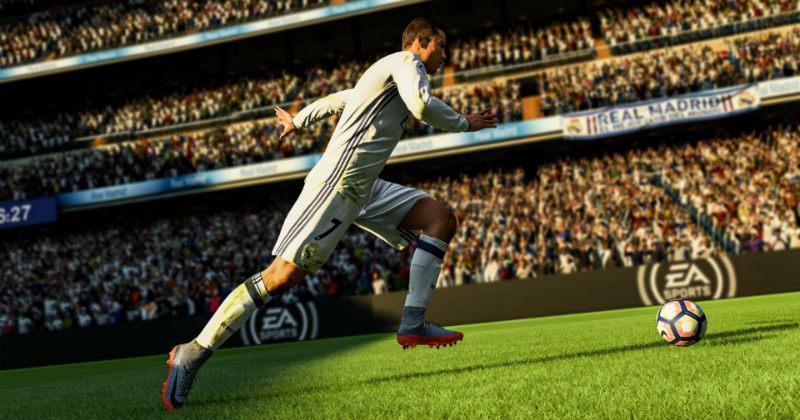 Cristiano Ronaldo running on Fifa 18