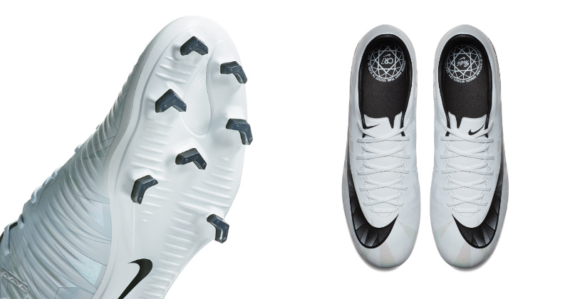 Nike Mercurial White CR7 Football Boots