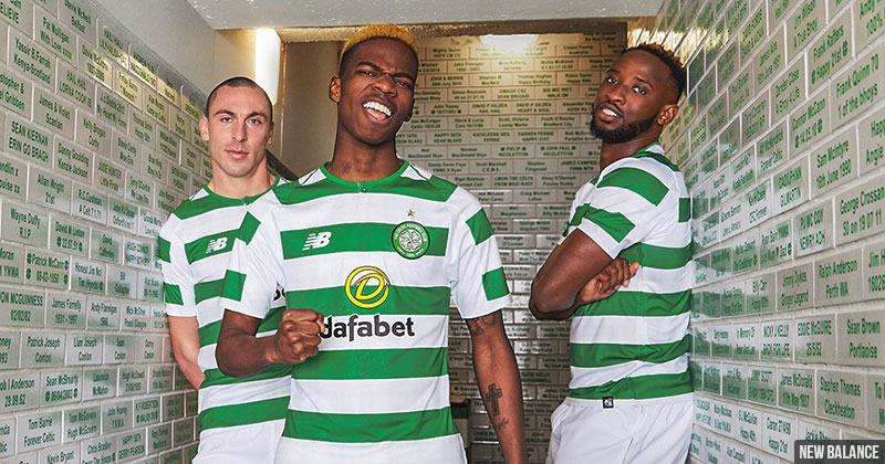 Celtic show off their new home shirt