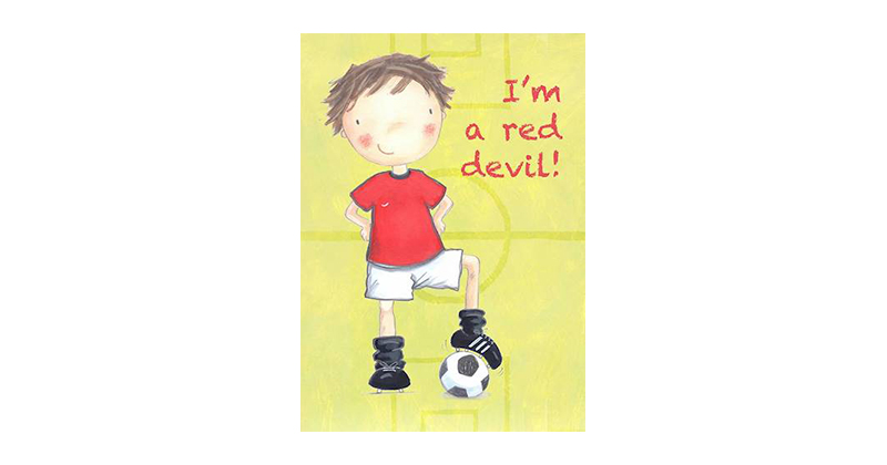 Favourite Football Red Devil Team Print