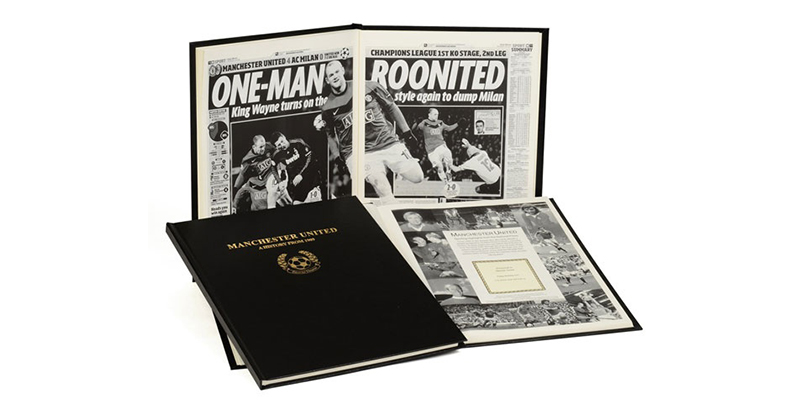 Football History Newspaper Book