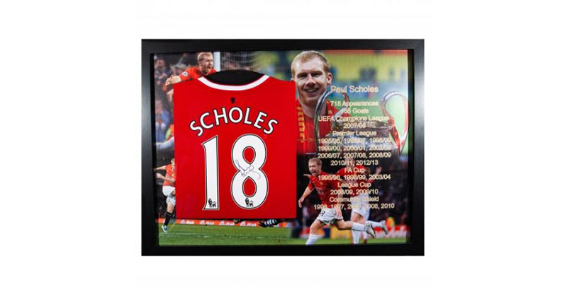 f389eef3987 2. Paul Scholes Signed Framed Shirt £299.99