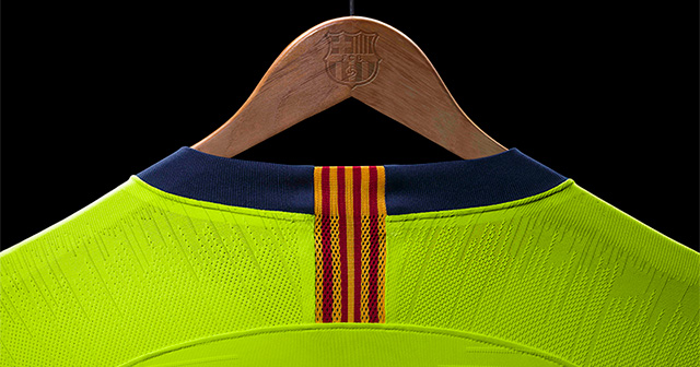 One of the best shirt releases this week, Barcelona's new away shirt.