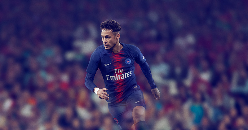 One of the poster boys of the PSG charge, Neymar.