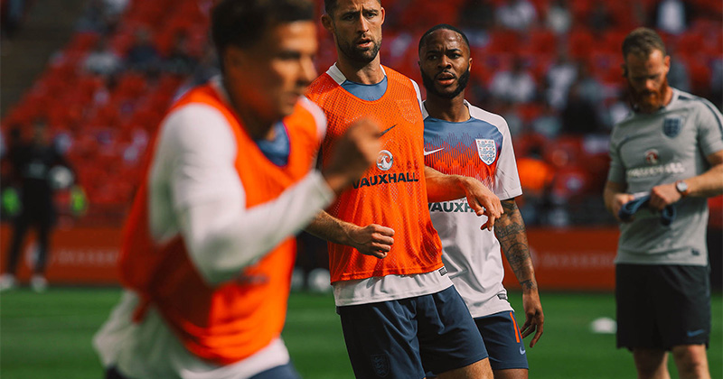 Raheem-Sterling-wearing-the-new-England-training-top