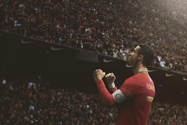 Born Leader: Cristiano Ronaldo has been the captain of Portugal since July  2008. Image: news.nike.com