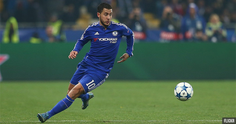 Eden Hazard in a match for Chelsea