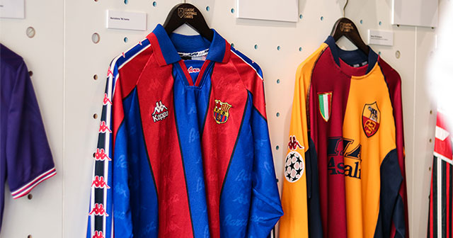 A beautiful Barcelona and Roma shirt