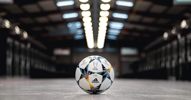 The Champions League finals ball
