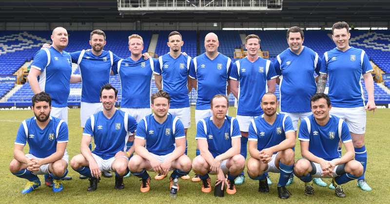 FOOTY team down at Goodison Park with Umbro