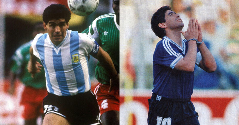 argentina-1990-home-and-away-shirts