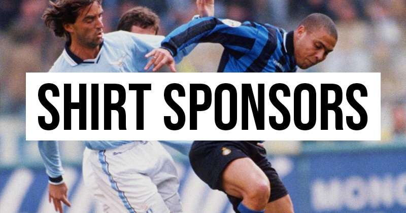 Italy has the best football shirt sponsors