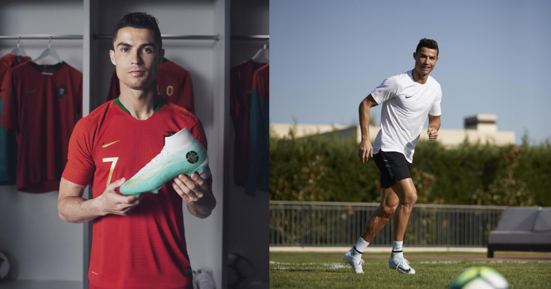 The CR7 'Born Leader' (left) and 'Cut To Brilliance' (right) Mercurials
