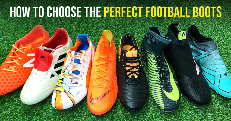 a selection of popular football boots