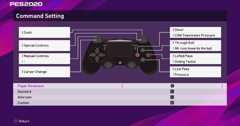 example of how to customise pes 2020 controls