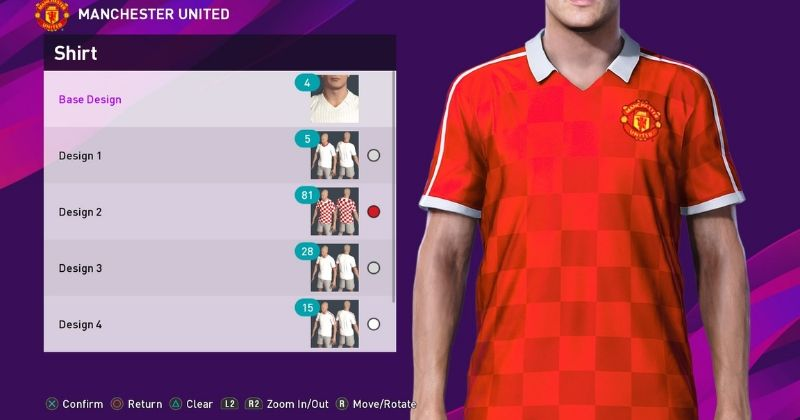 custom pes manchester united kit