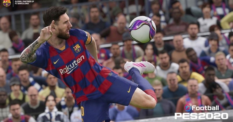 messi screenshot from pes 2020