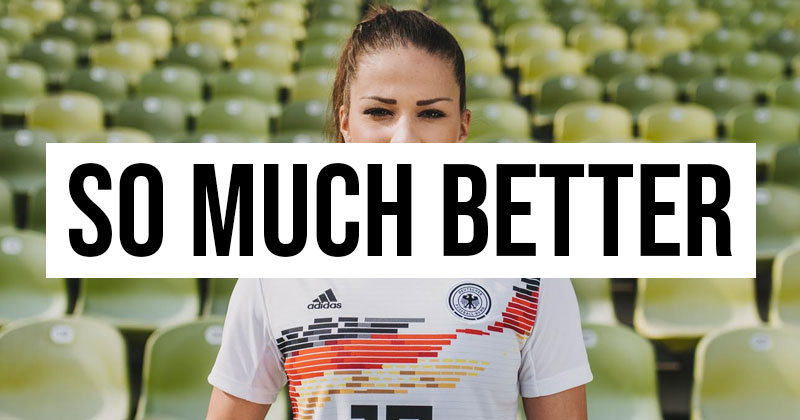 Germany womens shirt is better than the mens