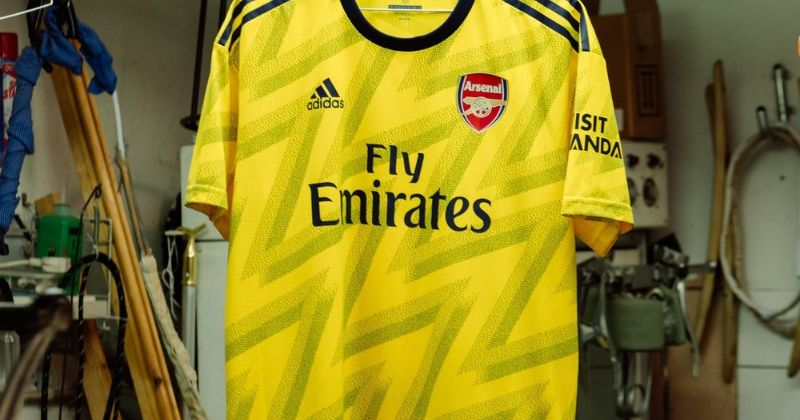 arsenal 2019-20 bruised banana away shirt