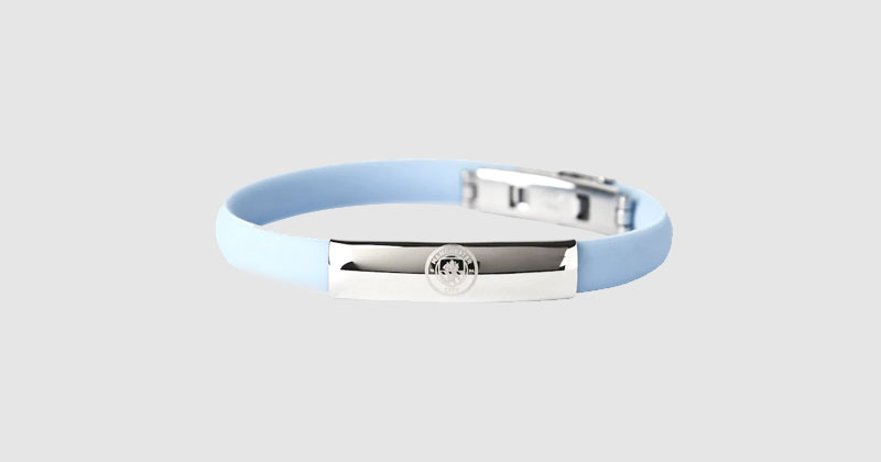 stainless steel light blue man city bracelet